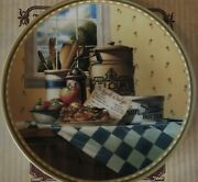 Apple Crisp Limited Edition Collector's Plate By Michael J. Weber For Knowles