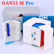 Gan 11m Pro Frosted 3x3x3 Speed Stickerless Magic Cube Puzzle Toys Frosted White