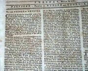 Benedict Arnold Joins British Army And John Andre Executed 1781 Rev. War Newspaper