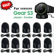 For Samsung Gear S2/s3 Frontier/classic Qi Charging Dock Cradle Charger Usa Lot