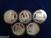Highlander Tv Series Five Medal Two Ounce Each Silver Proof Set E4766