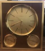 And Co. Clock Barometer, Thermometer Vintage