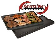 Camp Chef Pre Seasoned Cast Iron Reversible Griddle And Grill Accessory