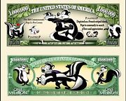 Pepe La Pew Novelty Dollar Bill Comes In A Free Soft Polly Sleeve