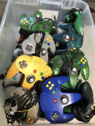 N64 Nintendo 64 Controller All Authentic Pick And Choose Color New Joysticks Oem