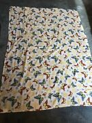 Country Summer Multi Color Floral Butterfly Rectangular Tablecloth Approx. 70x50