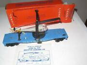 Lionel Post-war - 3419 Oper. Double Blade Helicopter Car - Good - Boxed - W8