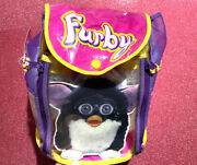 Rare Vintage 1999 Furby Carry Along Backpack Bag Pink And Violet Rare Color New