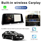 8-core Android 10 Car Gps Video Navi Wifi Auto Unit Carplay For Bmw 6 Series F06