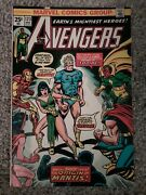 Avengers 123 May 1974 - The Thing Marvel Value Stamp In Tact - Key Comic