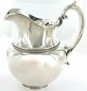 .stunning / Huge / Vintage Usa Shreve Crump And Low Sterling Silver Water Pitcher.