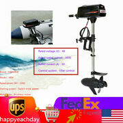 48v Electric Outboard Brushless Motor Engine Fishing Boat Motor Tiller Control