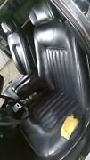 1986 Rolls Royce Silver Spur Black Leather Seat Set Front/rear