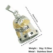 Bell Pendant 316l Stainless Steel Men To Live Live To Ride Eagle Stars Biker
