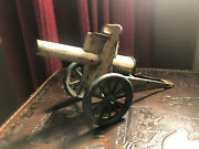Antique Hans Eberl Ebo Tin Toy Old Germany Cannon Shooting Gun