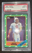 1986 Topps 374 Steve Young Rookie Rc Psa 9 Mint Hof 49ers