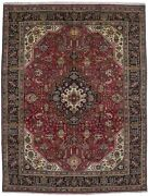 Classic Floral Style Semi Antique 10x13 Handmade Rug Oriental Home Decor Carpet