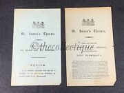 Pair Of Antique Victorian St Jamesand039s Theatre Programmes-london-lady Clancarty