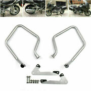 Rear Silver Crash Bars Engine Guard Bumper Protector Fit For Bmw R1200rt 2014-17