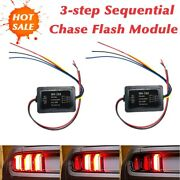 2x Universal 3 Step Sequential Chase Flash Module Boxes Car Turn Signal Light