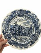 American Hurrah English Ironstone J.andg. Meakin Egland Blue Dinner Plate 10.5andrdquo