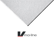 From 6 Boxes White Sandtone Flat Suspended Ceiling Tiles 1195x595mm Texturedv