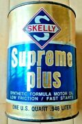 Vintage Original Skelly Oil Company Supreme Plus Motor Oil 1 Qt. Can - Very Good