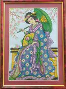 Finished Completed Cross Stitch, Hand Made Needle Point For Home Wall Decoration