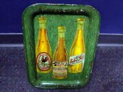 Circa 1900 Central American 3-bottle Beer Tray
