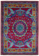 Vintage Hand-knotted Carpet 8'11 X 12'5 Traditional Oriental Wool Area Rug