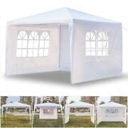 10'x10' Outdoor Canopy Tent Party Wedding Gazebo Pavilion Cater Waterproof White