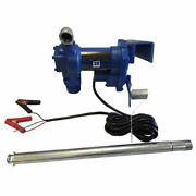 Portable 12v Electric Gasoline Fuel Transfer Pump Gas Diesel With Ground Wire