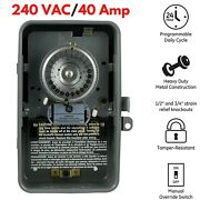 Swimming Pool Pump Filter Outdoor Timer Mechanical Enclosure 24 Hour 40 Amp 5hp