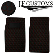 Red Hex Vinyl 2x Tailored Floor Carpets For Mg Midget 1500 74-80 Jf2