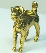 14k Solid Yellow Gold Airedale Terrier Motif Charm Pendant..5.1gm...