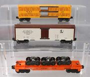 Lionel 36621, 63561 And 636255 Vintage O Postwar Assorted Freight Cars [3]