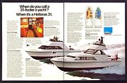 1976 Hatteras 31 Sport And Express Cruiser Yacht Photo 2-page Vintage Print Ad