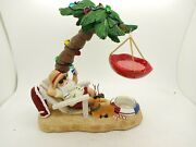Yankee Candle Santa Claus On The Beach Tart Burner Hard To Find Christmas