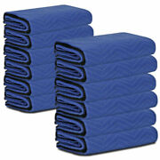 Double Side Moving Blankets 80 X 72pro Economy Shipping Furniture Pads 12 Pack