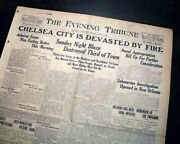 The Great Chelsea Fire Massachusetts Conflagration Fire Disaster 1908 Newspaper