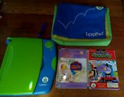 Leap Frog Leap Pad Learning System Blue W/2 Books, Cartridges, Batteries And Bag