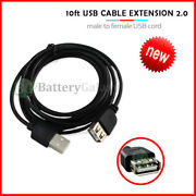Lot 1-100 Usb 10ft Extension Cable For Samsung Galaxy S3 S4 S5 S6 S7 S8 Plus