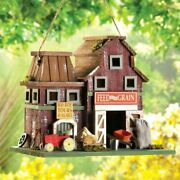 Feed And Grain Farmhouse Bird House Country Charm Free Shipping