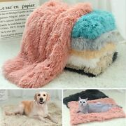 Blanket Cover Warm Soft Pet Kennel Thicken Cushion Washable Long Plush Mat Bed