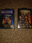 Golden Axe And Golden Axe 2 Sega Genesis In Box With Instructions And Registration