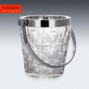 Stunning 20thc French Silver Plated And Cut Glass Champagne Ice Bucket C.1960
