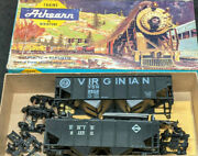 Athearn Lot Of 2 Erie 21170 And Virginian 9502 Hoppers Vintage Ho Scale, Black