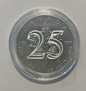 2013 1gr .9999 Fine Silver Canadian Maple Leaf 25th Anniversary Coin