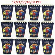 1496cm Among Us Theme Popcorn Box Kids Boy Girl Birthday Family Party Supplies