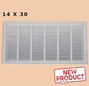 14 X 30 Filtered Air Return Vent Cover Duct Size White Grille Wall Ceiling